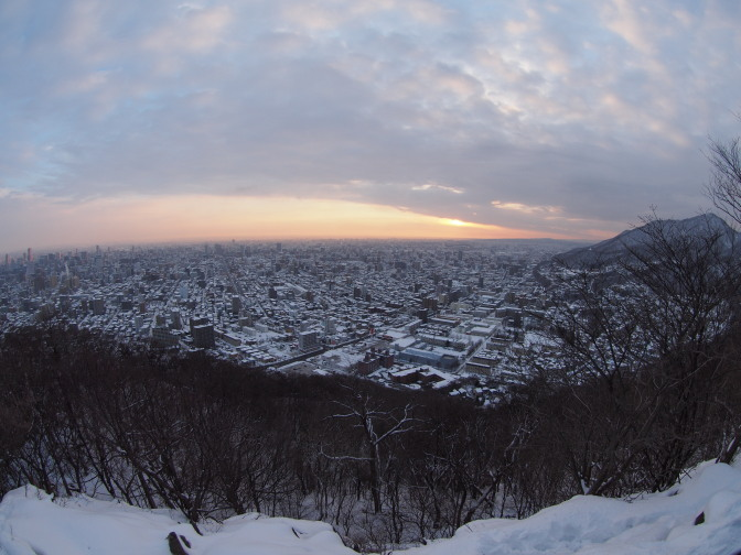 元旦の円山