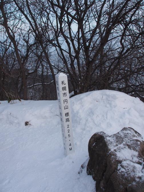 円山頂上(225.4m)