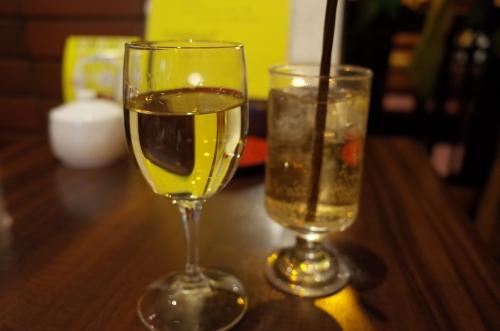 白ワインとジンジャーエール