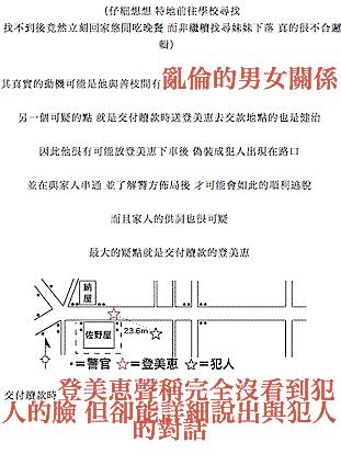 台湾のブログでも狭山事件を推理する、の図