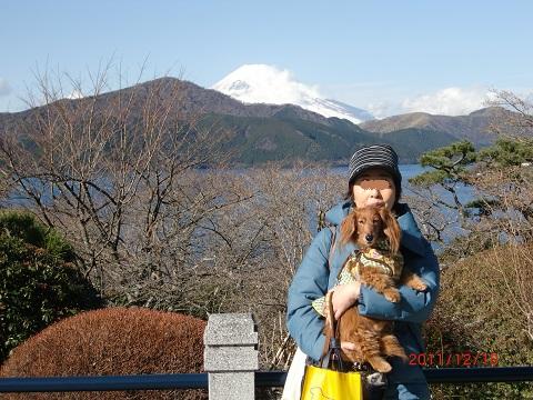 マロちゃんと芦ノ湖