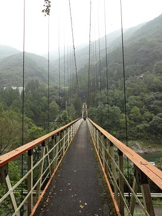 球磨川 吊り橋②