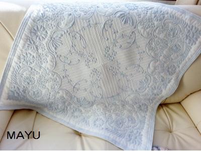 青い毛糸のトラプント 78×78 2015.2.1
