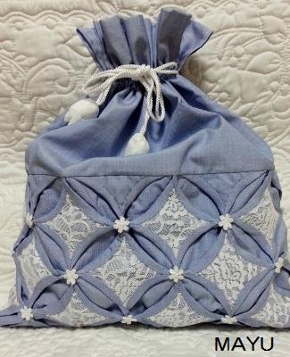 カテドラルウインドウの巾着 30×35 2015.4.3