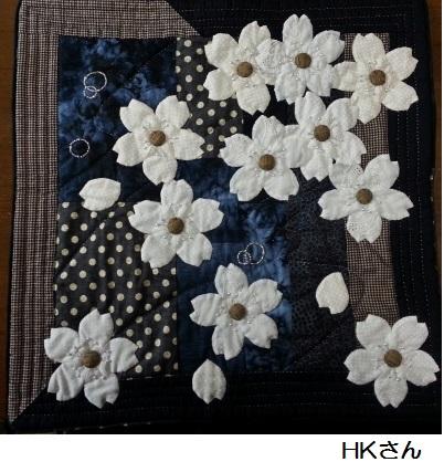 『夜桜』 HKさん 2015.4.7 約50センチ角