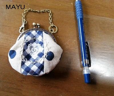 ミニがま口ポーチ 2015.4.20