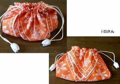 大判ハンカチから作った巾着 2015.6.1