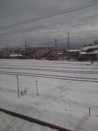 長野の郊外も雪景色
