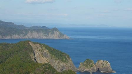 興津から見た土佐湾