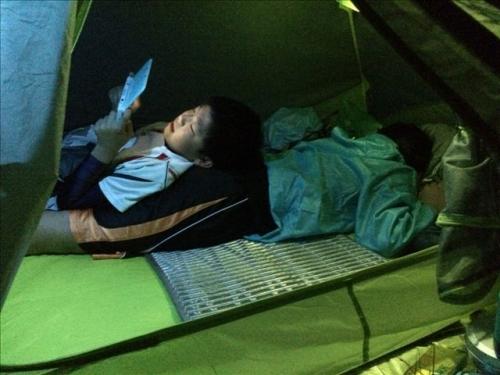 坊がつる 夜テント