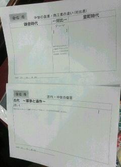 日本史受信発信シート