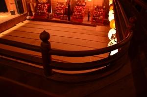 2階の擬宝珠高欄