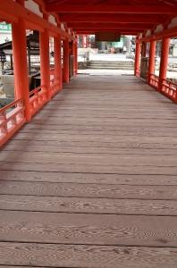 厳島神社 廻廊(出口付近)