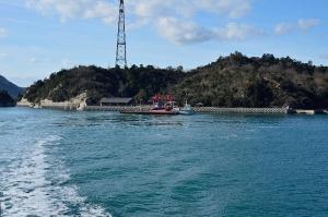フェリーから見た大久野島