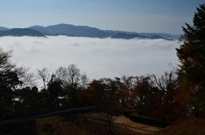 備中松山城 二の丸から眺めた雲海