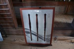 御社壇に捧げられていた宝剣の写真