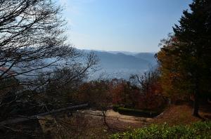 松山城から見た高梁市の町