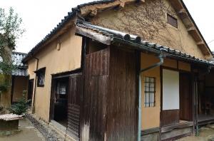 頼惟清(らい ただすが)旧宅 庭から見た母屋