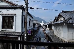 笠井邸から見た竹原の町並み