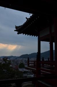 竹原夕方の空  曇り・・・