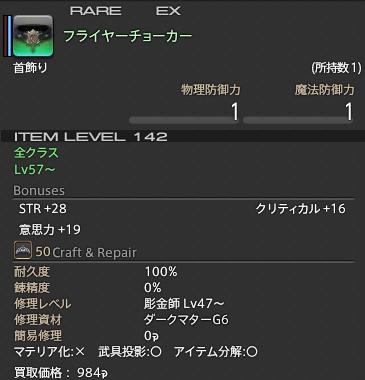 新生14 498日目 フライヤーチョーカー