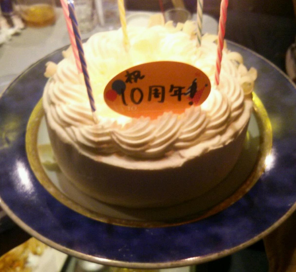 2次会ケーキ