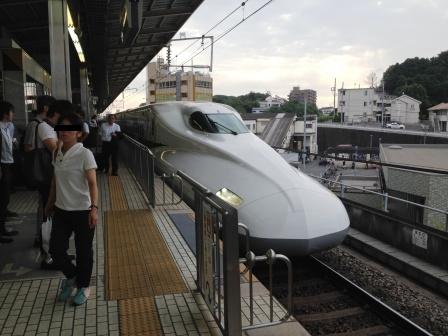 新幹線到着_H26.07.15撮影