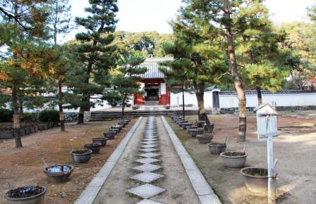 開山堂への石畳_H26.12.05撮影