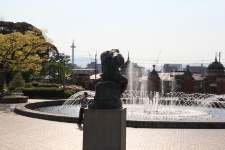 京都国立博物館の噴水_H27.04.25撮影