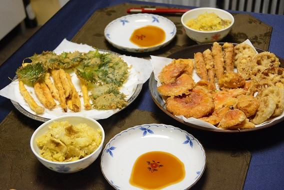 8天麩羅の夕食20150730