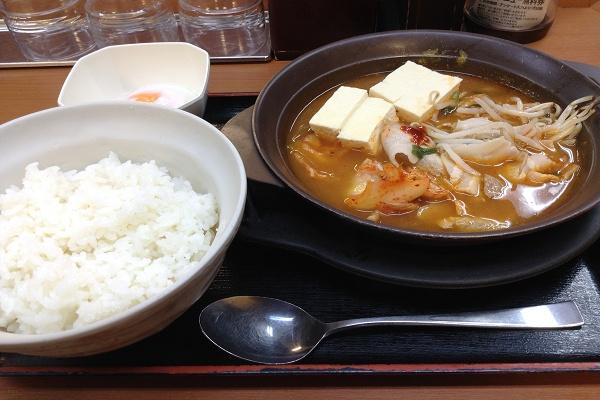 Sガスト 熱々定食 キムチゲ鍋