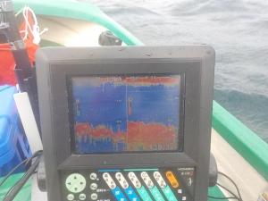 DSCN0603 - 8時半ころ ウネリがすごくて魚探も波々