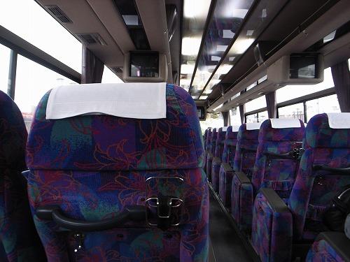 代行バス車内