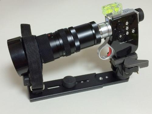 Manfrotto 望遠レンズサポート 293 Cマウントレンズ装着例