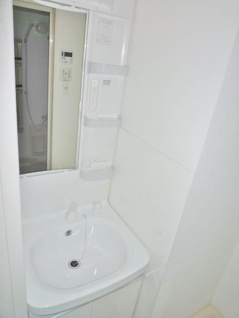 鹿児島市新栄町新築賃貸マンションの洗面所