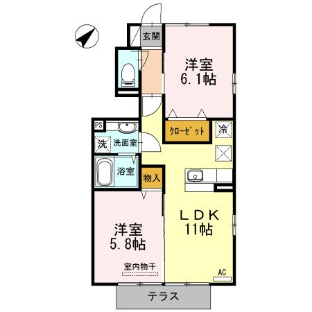 鹿児島市山田町新築賃貸アパートの間取