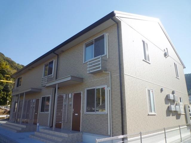 鹿児島市山田町新築賃貸アパートの外観