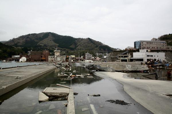 ⑫浸水した女川港
