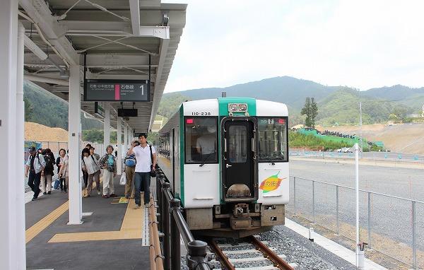 ⑰新駅ホーム