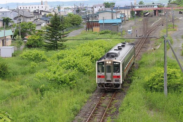 ⑤厚岸駅発車