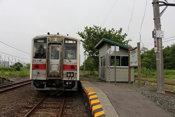 ⑧茶内駅ホーム