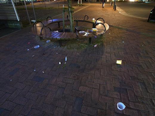 150110_08花畑駅のゴミ