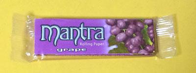 mantra_grape mantra マントラ・グレープ マントラ Smoking 手巻きタバコ 巻紙 ローリングペーパー RYO