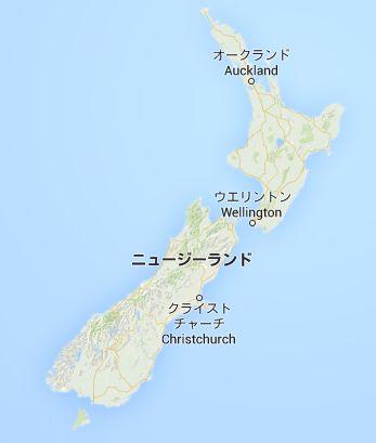 mapニュージーランド