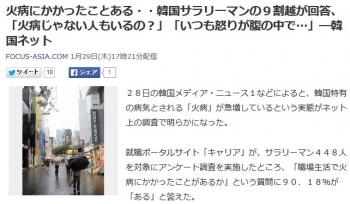 news火病にかかったことある・・韓国サラリーマンの9割越が回答、「火病じゃない人もいるの?」「いつも怒りが腹の中で…」―韓国ネット