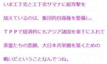 tenTPP集団的自衛権英霊たちの悲願、大日本共栄圏