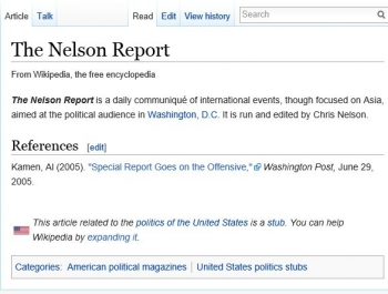wikiThe Nelson Report