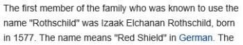 wikiRothschild family
