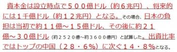 ten日本の負担は当初で約11億~15億ドル、その後に約21億~30億ドル