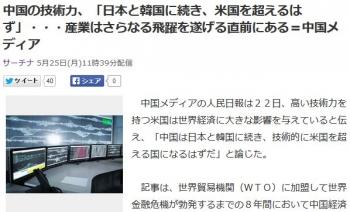 news中国の技術力、「日本と韓国に続き、米国を超えるはず」・・・産業はさらなる飛躍を遂げる直前にある=中国メディア